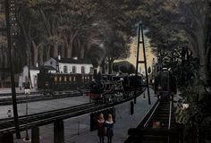 """""""Estación en el bosque"""" Paul Delvaux"""