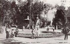 La Alameda central, Ciudad de México a principios del siglo XX.