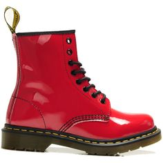 Dr.Martens Boots 1460 Red Patent Lamper USA $125.00