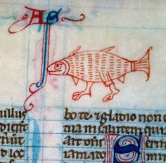 Illuminated manuscript: weird fish. Quacks and Quirks.