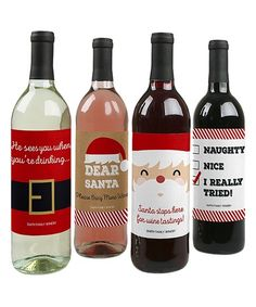 Add a dash of custom charm to your holiday gift-giving courtesy of these clever, waterproof wine bottle labels. Shipping note: This item will be personalized just for you. Allow extra time for your special find to ship.