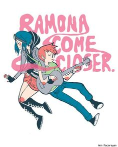 Ramona Flowers and Scott Pilgrim by Ann Macarayan - Best Art Ever (This Week) - 03.15.13