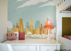 wallpaper mural for kids and teenagers room