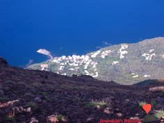 The village of #Ginostra seen from the #top of #Volcano #Stromboli.