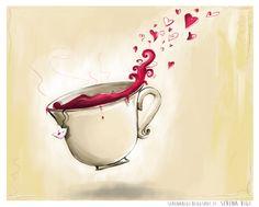 << Illustration on commission>>  - Wacom Tablet & Illustrator cs6 #illustration #illustrator #adobe #graphic #wacom #cup #tea #morning