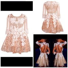 Rose Gold Sequin Floral Tutu Dress via UrbanChicOutlet. Click on the image to see more!