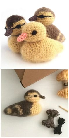 crochet bow pattern Crochet Duck Patterns You Will Love Crochet Bow Pattern, Crochet Bows, Crochet Animal Patterns, Stuffed Animal Patterns, Crochet Patterns Amigurumi, Cute Crochet, Crochet Crafts, Yarn Crafts, Easy Crochet
