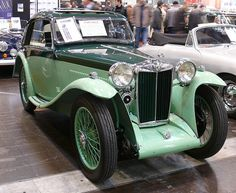 1935 MG Airline PB Coupe. The MG P-type was produced by the MG Car company from 1934 to 1936. This 2-door sports car used an updated version of the overhead camshaft, crossflow engine, used in the 1928 Morris Minor and Wolseley 10 and previously fitted in the J-type Midget of 1932 to 1934, driving the rear wheels through a four-speed non-synchromesh gearbox.