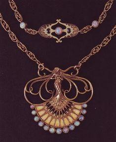 Lalique Art Nouveau necklace