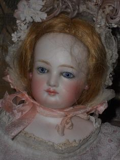 ~~~ Beautiful French Bisque Poupee by Jumeau with Doll Shop Label ~~~ from whendreamscometrue on Ruby Lane