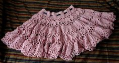 crocheted lacy circle skirt... I could make this for barbie with a doillie