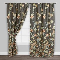 Our fully-lined, sleeve top Bird of Paradise Pakshi Curtains are made exclusively for World Market. With gorgeous birds perched amongst lovely blooms, this affordable curtain is sure to create an alluring look in an room.