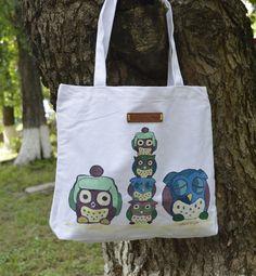 Sacosa ''Sleepy owls'' (45 LEI la PushDesign.breslo.ro) Sleepy, Diaper Bag, Owls, Bbc, Design, Diaper Bags, Mothers Bag, Owl