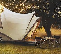 Unbelievable Opera Pop-Up Camper: The Mini House on Wheels - TechEBlog  Coolest camper ever.