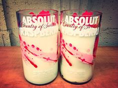 Rasberry Scented Soy Wax Candle Pair by AdamsBottleShop on Etsy, $35.00