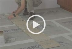 How to install backer board/durock for floor tile - YouTube | DIY ...