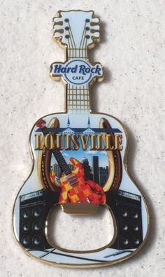 "Hard Rock Cafe louisville V13 ""lucky"" Guitar Bottle Opener Magnet Awesome from $24.88"