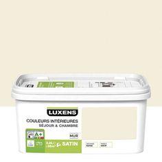 peinture mur couleurs intrieures luxens blanc ivoire n3 satin 25l - Salon Blanc Ivoire