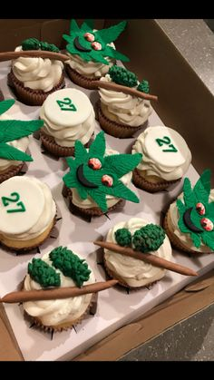 Very odd theme, here are some weed cupcakes for a... | cupcakes ...