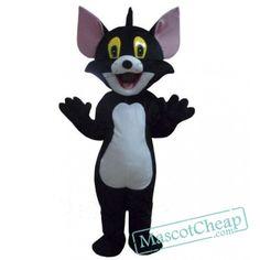 Black Tom Cat costume Cartoon Mascot Costume Free Shipping Cartoon Mascot Costumes, Cat Costumes, Adult Costumes, Bloodhound Dogs, Tiger Costume, Eagle Mascot, Goofy Dog, Bulldog Mascot, Black Toms
