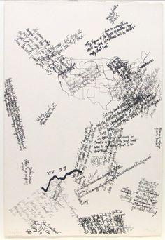 John Cage print from Mushroom Book 1972 Poema Visual, Graphic Score, John Cage, Fluxus, Art Brut, Japanese Graphic Design, Moma, Word Art, Book Design
