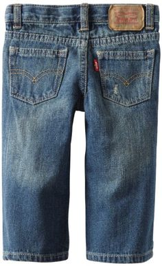 Levi's Baby-Boys Infant 549 Relaxed Straight Jean:  100% cotton Machine Wash Zip fly and button closure Five-pocket styling Signature label detail A hidden elastic waist keeps the relaxed, straight fit of Levi's 549 jean in place. Modern straight fit