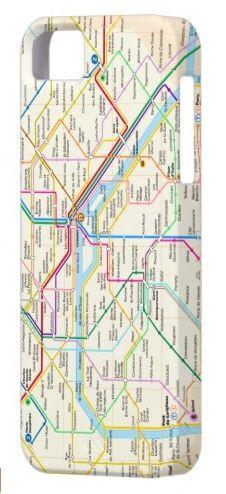 Paris Metro Map - iPhone Case iPhone 5 Cases #travel #France #Paris #metro #map #gift