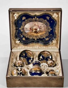 Lot: 19TH CENTURY MEISSEN TEA SET IN A FITTED BOX, Lot Number: 0040, Starting Bid: $3,500, Auctioneer: Louvre Antique Auction, Auction: ANTIQUES AND OBJET D'ART AUCTION, Date: April 24th, 2017 CEST