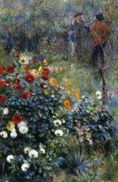 Renoir: The Garden in the Rue Cortot, Montmartre, 1876.