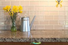 Country Cottage Light Taupe 3x6 Glass Subway Tiles light taupe glass subway tile backsplash<br>