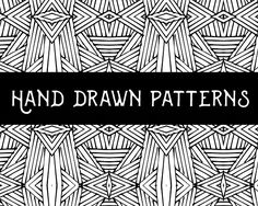 Hand Drawn Geometric Patterns Graphics Hand Drawn Geometric Patterns- Includes: 6 Seamless patterns in AI file and 6 EPS files- Patterns by Misty Owl Design