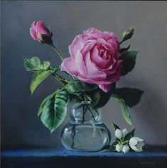Pieter Wagemans Belgian artist specialized in realistic oil paintings of flowers. Famous Still Life Paintings, Realistic Oil Painting, Gifts For An Artist, Color Harmony, Old Master, Light And Shadow, Artist Art, Painting Techniques, Glass Vase