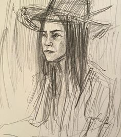 It's a drawing of Kat, That I did at the drink and draw last night. #draw #drawing #artist #art #sketch #sketches #portrait #artistsoninstagram