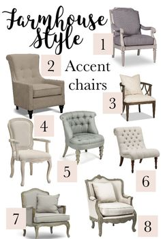 farmhouse furniture style. Farmhouse Style Accent Chairs.Give The Look To Any Room Adding Chairs Just Furniture W