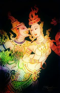 Kinaree & Nagapaksin :: my sweet couple ::: (Himaphan forest) Thai mythology