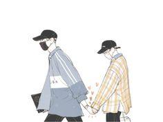 Chanbaek Fanart, Baekyeol, Images Aléatoires, Wolf Colors, Exo Couple, Exo Fan Art, Boy Cat, Manga Boy, Illustrations And Posters