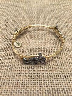 Bourbon and Boweties Silver Seahorse Standard Wrist