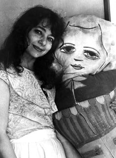 Mirka Mora with her soft sculptures
