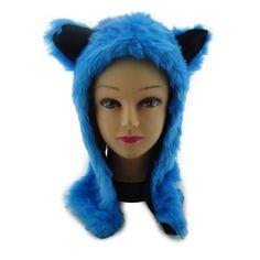 HALLOWEEN COSTUME Furry Anime Cosplay Cat Wolf Animal Ear Faux Fur Hood Hat #FauxPawFashions #Hood