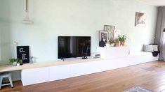 6 tips om het perfecte tv-meubel te vinden saaie muur opleuken ikea besta hack ikea diy tv meubel tv kast eetbank zitbank dressoir Ikea Tv, Ikea Hack Besta, Hacks Ikea, Hacks Diy, Ikea Living Room, Diy Living Room Decor, Living Room Tv, Home And Living, Apartment Hacks