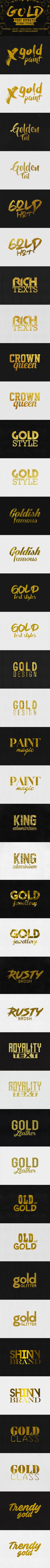 Gold Text PSD Effects  • Only available here ➝ http://graphicriver.net/item/gold-text-effects/16811782?ref=pxcr