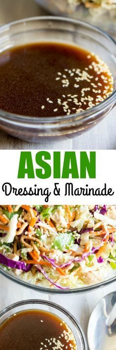 The BEST Asian Salad Dressing! Made with mostly pantry ingredients, you're going to love the flavor. Also works well as a marinade for meat and vegetables. via /culinaryhill/