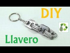 161. DIY LLAVERO [FACIL] (RECICLAJE DE ANILLAS) - YouTube