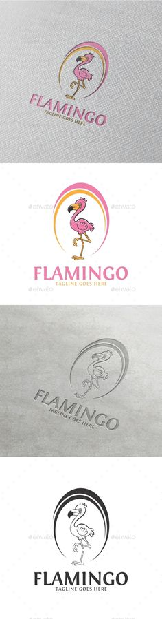 Flamingo logo - Abstract Logo Templates Download here : https://graphicriver.net/item/flamingo-logo/19615101?s_rank=219&ref=Al-fatih