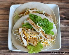 Make Ahead Meal: GF Grilled Chicken, Lettuce, Cheese and Honey Mustard Wraps
