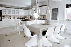 Having Fun Cooking in Bewitching Scandinavian Kitchen Designs : Industry Features Combined In Kitchen Decor Will Become Beautiful Nordic Kitchen, Scandinavian Kitchen, Scandinavian Style, Scandinavian Interiors, Furniture Dining Table, Dining Table In Kitchen, Nordic Interior Design, Interior Decorating, Scandinavia House