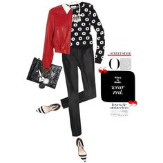 A fashion look from February 2013 featuring long sleeve pullover, leather bomber jacket ve black leather pants. Browse and shop related looks.
