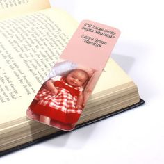 "Bookmarks with your kids' photo and message ""I'll keep your page, Mommy/Grandma/Daddy/Grandpa.""  Great for Grandparents' Day!"