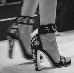 """""""shoes at alexander mcqueen Cute Shoes, Me Too Shoes, Stiletto Heels, High Heels, Mode Ootd, Shoe Boots, Shoes Heels, Tenis Casual, Mode Blog"""
