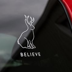 Believe In The Jackalope Car Decal - Texas Humor Store